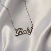 Baby Silver Chain Necklace