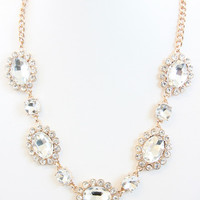 Queen Ann Crystal Necklace