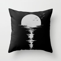 Moon Song Throw Pillow by Jorge Lopez