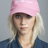 Pink Fight Like A Girl Baseball Cap