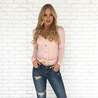 Knit Happens Top in Blush Pink