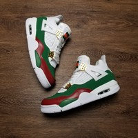 [ Free  Shipping ]Air Jordan 4 Retro Gucci  308599-111 Basketball Sneaker