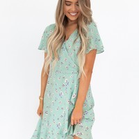 Mindy Mint Floral Dress