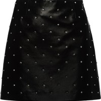 Miu Miu Mini Leather Skirt - Farfetch