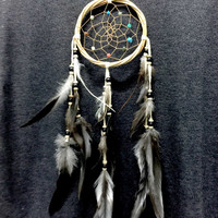 Dream Catcher Natural color Rattan Wall Hanging Home Decoration ornament Bead Feather Handmade Craft