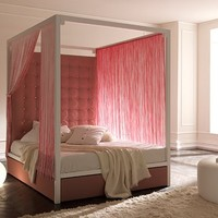 Canopy bed with high headboard FUJI by Bolzan Letti