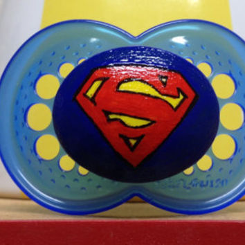 Super Baby - Limited Edition - Custom Hand Painted Pacifier