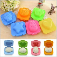 6pcs/set Cartoon Sushi Maker Boiled Egg /Rice Roll Mold Kitchen DIY Chef Rice Ball Bento Mould Kitchen Accessories GI878428