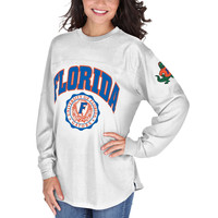 Florida Gators Pressbox Women's Edith Long Sleeve Oversized Top - Royal