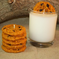 Cookies and Milk Candle Set, Highly Scented Chocolate Chip Cookie Candle, Unique Candle, Fake Food