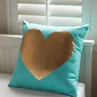 Ankit Heart Pillow - Womens Scarves - Blue - One