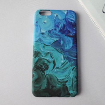 Unique Tie-Dye Solid Case Cover for iPhone 6 6s Plus Gift