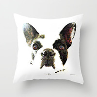 French Bulldog Art - High Contrast Print by Sharon Cummings Throw Pillow by Sharon Cummings