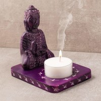 Buddha Stone Candle Holder