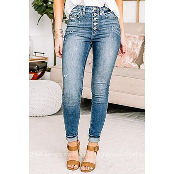 Those Summer Nights High Rise Skinny Jeans