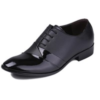 Benana 2014 New England Style Authentic Splicing Pointed Head Fashion Men's Business Shoes Dress Shoes - DinoDirect.com