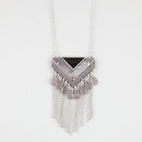 Full Tilt Epoxy Triangle Necklace Silver One Size For Women 24274814001