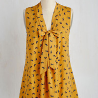 Quirky Mid-length Sleeveless A-line South Florida Spree Top in Scotties
