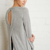 Twist Cutout-Back Sweater