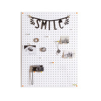 White Pegboard - Wooden Pegboard with Wooden Pegs