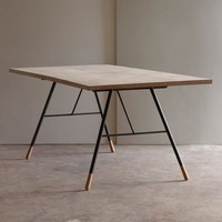 Tipped Dining Table, reclaimed table, recycled furniture   Folklore