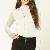 Contemporary Glitter Knit Top