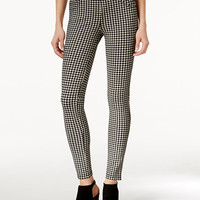 Sanctuary Grease Gingham-Print Leggings | macys.com
