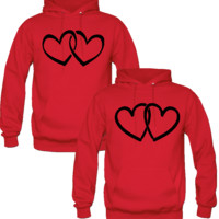 HEARD DESIGN COUPLE LOVE HOODIES
