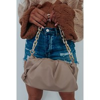 Here's To Us Purse: Nude/Gold