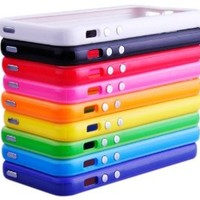 Huaxia Datacom Pack of 10 Color Combo 2Tone Colorful Premium Bumper Case W/ Metal Buttons for iPhone 5 5G 5th AT&T - 10 Piece