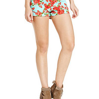Celebrity Pink Jeans Juniors' Floral-Print Shorts