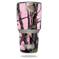 Protective Vinyl Skin Decal for YETI 30 oz Rambler Tumbler wrap cover sticker skins Pink Tree Camo DECAL ONLY
