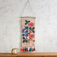 Embroidered Flowers Wall Decor