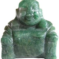 Lucky Charm Buddha In Green Jade