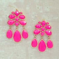 THE BRIGHT PINK CITY EARRINGS