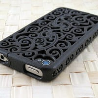 Designer iPhone 4S & 4 Victorian Filigree by CWestbrookDesigns