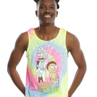 Rick And Morty Get Schwifty Tie Dye Tank Top