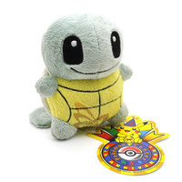 """New 5"""" SQUIRTLE Pokemon Rare Soft Plush Toy Doll/PC1933"""