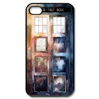 Popular Doctor Who Watercolor Tardis iPhone 4,4S Case Police Call Box iPhone 4,4S Case
