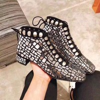 Christian Dior   Women Casual Shoes Boots fashionable casual leather Women Heels Sandal Shoes