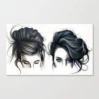 Hair Stretched Canvas by KatePowellArt