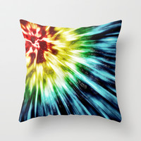 Abstract Dark Tie Dye Throw Pillow by Phil Perkins
