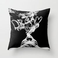 DREAM Throw Pillow by Irina Chuckowree