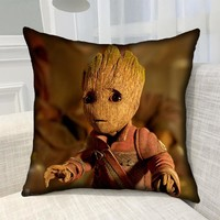 Guardians of the Galaxy Vol. 2 Cute Groot Mascot Printed Bolster Cute Baby Groot Pillows Chinese Characters Printed Bolster