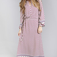 here's the cinch printed maxi dress - magenta