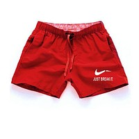 "Men's Summer ""Just Break It"" Beach Swim Shorts"