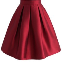 All Time Essential Pleated Skirt in Wine