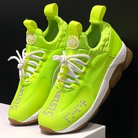 Versace 2.0  Fashion Trends for Men and Women: Thick Bottom and Low Band Leisure Sports Shoes