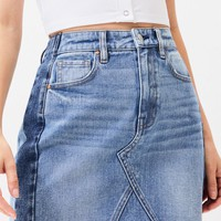Vintage Contrast Side Panel Skirt | PacSun