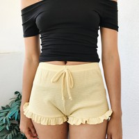 CARLY THERMAL SHORTS- YELLOW